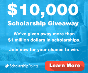 10000 dollar scholarship giveaway join scholarship points today