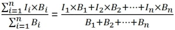Weighted Average Interest Rate Mathematical Equation