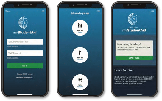 myStudentAid Mobile App Screenshot