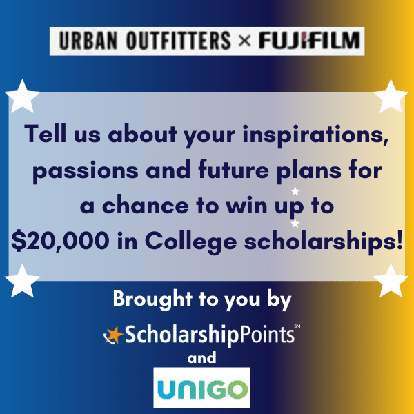 Urban Outfitters and Fujifilm Scholarship Banner
